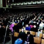 Manifestazione Teatro Ariston per Sollazzo deputato 1992