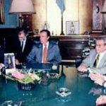 Una riunione con il Presidente Menem e il Governo argentino